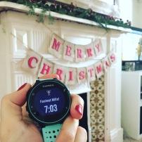 christmas day 1 mile pb